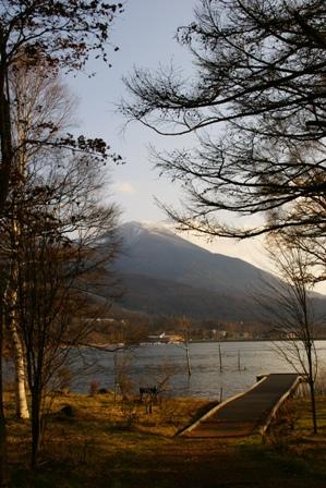初冬の女神湖