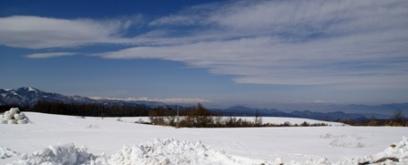 長門牧場から眺む