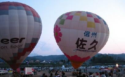 佐久の気球が登場